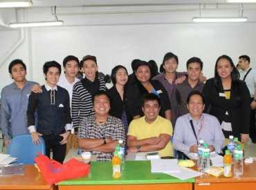 Dr. Martinez (UST Institute of Nursing), Rizal Angelo Grande, (Nursing Research professor), Dean Nap Caballero, Institutional Research Head, with BSN Level 4 students Group 4 .